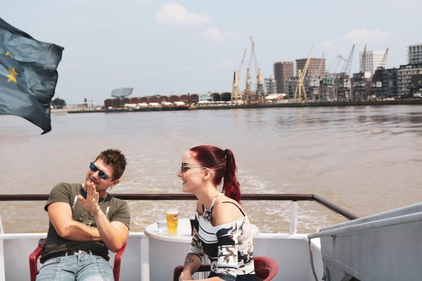 boot achtergrond haven